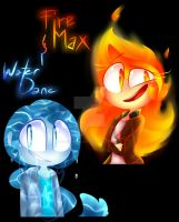 FireMax and WaterDane by PhantomAngelArtzy219