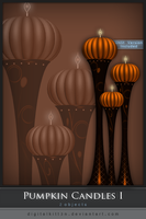 Pumpkin Candles I by ObsessiveDezign