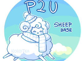 kawaii sheep base (no longer for sale) by kokotea