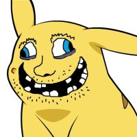 Pikachu's new face 2 by lordwindowlicker