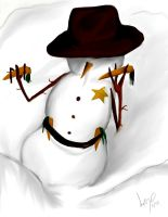 Cowboy Snowman Returns by Checker-Bee