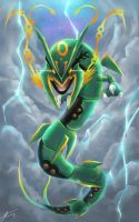 Ruler of the sky, Mega Rayquaza by R-nowong