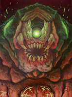 DOOM Mancubus Painting by Xous54