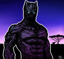 Black Panther by SpaceDragon14