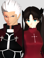 Archer and Rin by nerudrum