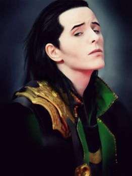 Loki Cosplay: Portrait sitting by FahrSindram