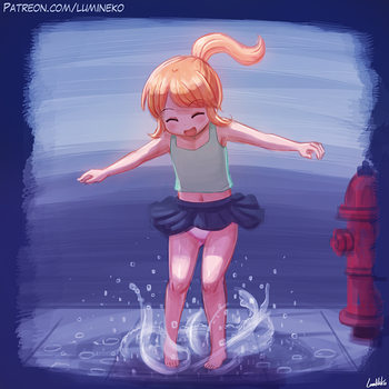 Jumping in Puddles by luminaura