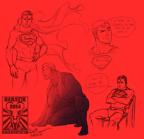 DC - Supes Art Therapy by Harseik