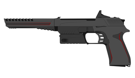 Nod Pistol Concept II (All Attachments) by Xenus888