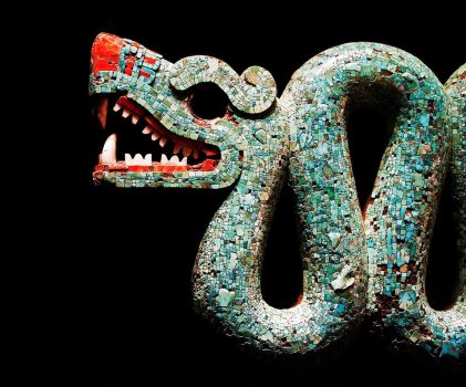 Aztec double headed serpent by geovailpintor