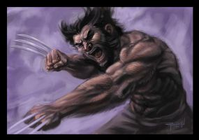 Wolverine speed painting by RayDillon