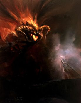 Gandalf and the Balrog by Harpokrates