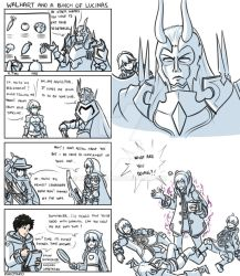 [FEH] Walhart and a bunch of Lucinas by Rukotaro