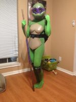 TMNT Rule 63 - Donny - WIP by Foayasha