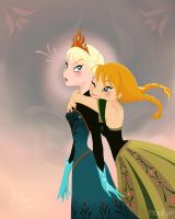 Two sisters by MadEye01