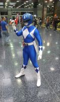 Blue Mighty Morphin Power Ranger by dragolianx