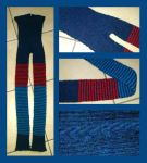 Striped cable and ribbed leggings by KnitLizzy