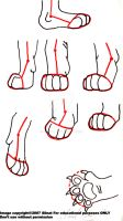 Tutorial lion paws 2 by Silnat