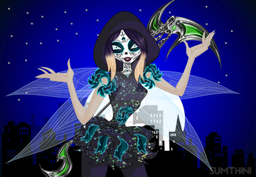 Landa Nightix(with Calavera makeup) by xXSumthiniXx