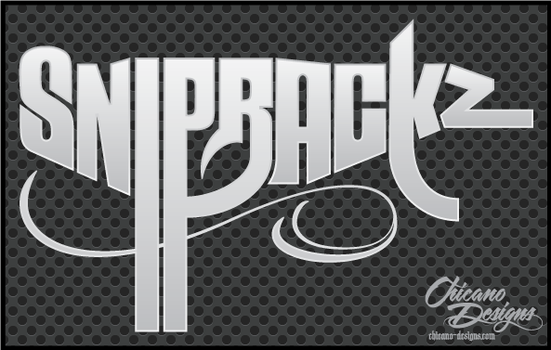 TYPOGRAPHY - Snip Rackz Uzi by ChicanoDesigns