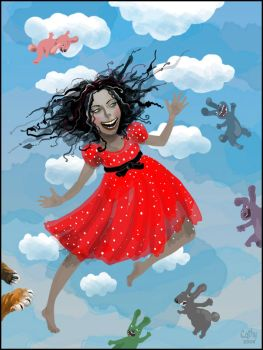 Amy in the sky with rabbits by Daywish