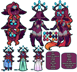Lyli   Chibi Deluxe Reference sheet by TwistedDisaster