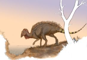 The Island Hadrosaur by Ashere