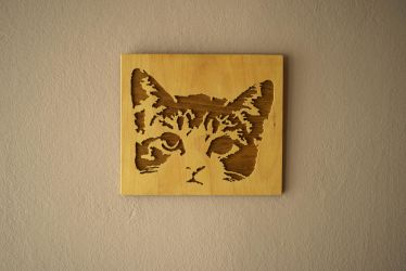 Scroll Saw Cat Picture by matcheslv