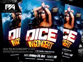DJ In Concert Party Flyer Template by pawlowskiart