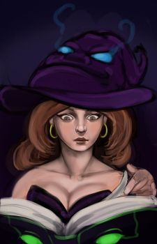 Witch Sketch by Cazareal