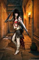 Kratos Goddess of War Cosplay 2 by HaleyHelloKitty