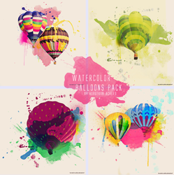 Watercolor Balloons Texture Pack by huruekrn-ackles
