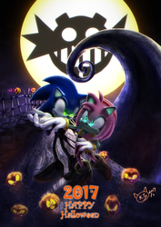 Sonic And Amy Holiday Nightmare by KTy-cat