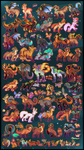 100 FREE Adoptables CLOSED by Roxalew