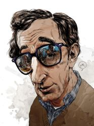 Woody Allen by Mitt-Roshin