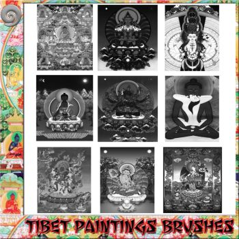 Tibet Paintings Brushes by Ginecologista38