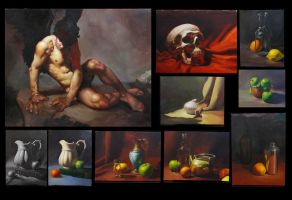 Oil and acrylic Paintings by khekian