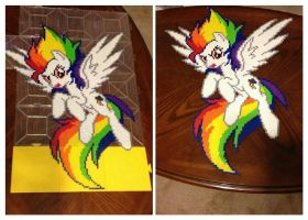 Super Rainbow Dash Perler Bead Sprite by jnjfranklin