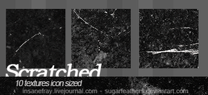 Scratched textures by SugarFeathers