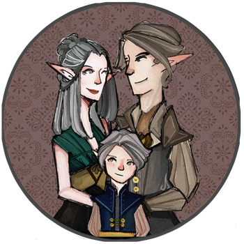 Siil'Crux Portrait - With Child by 1Valaquenta