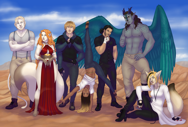 (Commission) Characters for GypsyCorset by haodan