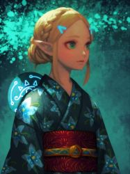 Yukata Zelda by bellhenge