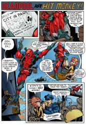 Deadpool and Hitmonkey by TheColorizer