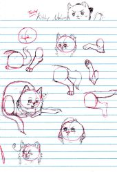 Toony Kitty Notes by nightwindwolf95