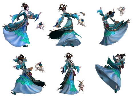 Smite Renders - Chang'e by Kaiology