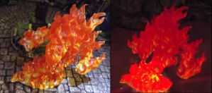 Reaper 77082 Fire Elemental / Light-Up Comparison by JordanGreywolf
