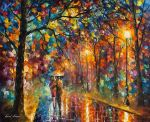 Walking in the Rain by Leonid Afremov