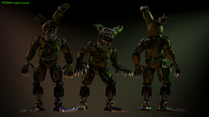 [8k] Nightmare Springtrap v2 Full Body by TF541Productions