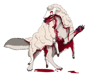Wolf In Sheep's Clothing by lunar-neo