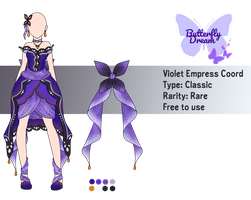 [MRA][B] Butterfly Dream - Violet Empress Coord by Shini-Illumi